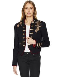 Free People - Lauren Band Jacket (black) Women's Coat - Lyst