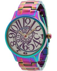 Betsey Johnson - Bj00040-11 Analog Rainbow Stainless Steel Case And Bracelet Watch (stainless Steel/rainbow) Analog Watches - Lyst