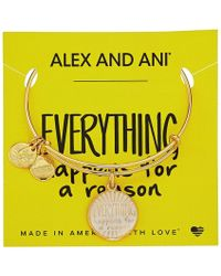 ALEX AND ANI - Words Are Powerful - Everything Happens For A Reason Ii Bangle (shiny Gold) Bracelet - Lyst