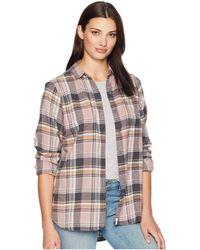 Woolrich - Eco Rich Pemberton Boyfriend Shirt (old Red Check) Women's Long Sleeve Button Up - Lyst