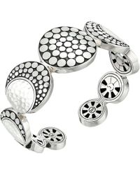 John Hardy - Dot Moon Phase Cuff (hammered Silver) Bracelet - Lyst