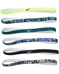 Nike - Printed Headbands 6-pack (black/red Crush/black) Athletic Sports Equipment - Lyst