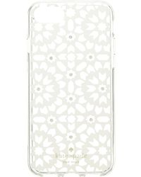 Kate Spade - Jeweled Floral Mosiac Clear Phone Case For Iphone 8 - Lyst