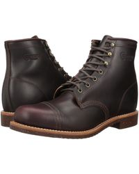 Chippewa - 6 Homestead Pebbled Boot (cordovan Full Grain Leather) Men's Work Boots - Lyst