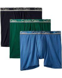 Calvin Klein - Comfort Microfiber 3-pack Boxer Brief (commodore Blue/dark Knight/monument) Men's Underwear - Lyst
