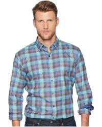 Bugatchi - Long Sleeve Shaped Fit Woven Shirt (emerald) Men's Clothing - Lyst