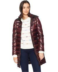 Calvin Klein - Walker Length Packable With Chunky Zipper Hardware (shine Chianti) Women's Coat - Lyst