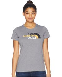 The North Face - Short Sleeve 1/2 Dome Tee (faded Rose/tnf Black) Women's T Shirt - Lyst