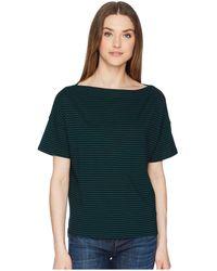 Vince - Classic Stripe Boatneck (vanilla/coastal) Women's Short Sleeve Pullover - Lyst