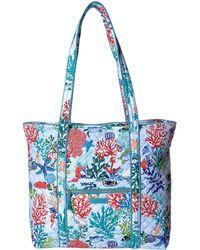 bfc535bde2 Lyst - Vera Bradley Iconic Small Vera Tote (indio) Tote Handbags in Gray