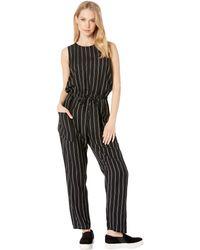 df99a0fca379 RVCA - Pop Out Striped Jumpsuit (black Stripe) Women s Jumpsuit   Rompers  One Piece