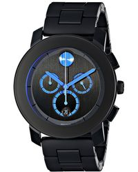 Movado - Bold - 3600101 (black Tr90/stainless Steel) Watches - Lyst