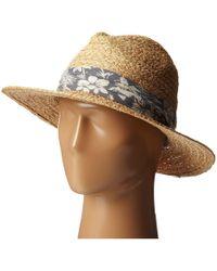 San Diego Hat Company | Rhf6004 Straw Panama Fedora W/ Palm Leaf Band | Lyst