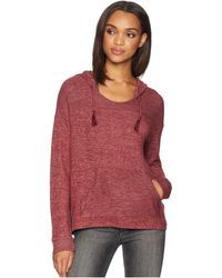 Roxy - Love In The Sky Knit V-neck Top (tawny Port Heather) Women's Clothing - Lyst