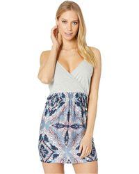 3c360cec4c Lyst - Roxy Crochet Racerback Dress Cover Up in Blue