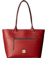 Dooney & Bourke - Beacon Zip Tote (red/red Trim) Tote Handbags - Lyst