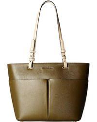 b2670a27a35e MICHAEL Michael Kors - Bedford Medium Top Zip Pocket Tote (optic White) Tote  Handbags