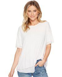 Free People - Cloud 9 Tee (grey) Women's T Shirt - Lyst