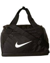 Nike - Brasilia Extra Small Training Duffel Bag (black/black/white) Duffel Bags - Lyst