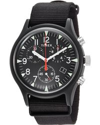 Timex - Mk1 Aluminum Chrono (black/black) Watches - Lyst