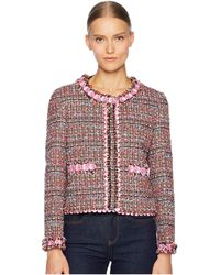 Boutique Moschino - Tweed Jacket (fantasy Print Pink) Women's Coat - Lyst