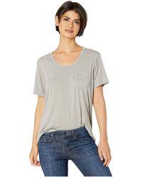 For Better Not Worse - Not Today Satan Pocket T-shirt (grey) Women's T Shirt - Lyst