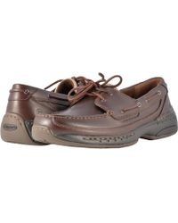 Dunham - Shoreline (brown Leather) Men's Slip On Shoes - Lyst