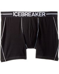 Icebreaker - Anatomica Merino Zone Boxers (black/white) Men's Underwear - Lyst