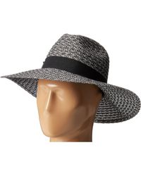 San Diego Hat Company - Ubl6493 Four Buttons Ultrabraid Fedora Hat (black/white) Fedora Hats - Lyst