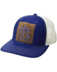 STS Ranchwear Patch Ball Cap - Blue