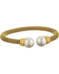 Majorica | Steel Bangle Bracelet | Lyst