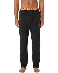 Emporio Armani - Cotton X-mas Lounge Pants (black) Men's Casual Pants - Lyst