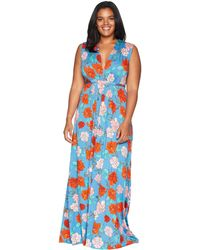 Rachel Pally - Plus Size Long Sleeveless Caftan (black) Women's Dress - Lyst