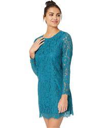 Kensie - Winter Lace Dress Ksdk8321 (frosted Aqua) Women's Dress - Lyst