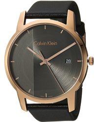 Calvin Klein - City Watch - K2g2g6c3 (cool Grey/black) Watches - Lyst