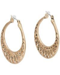 The Sak - Metal Works Openwork Metal Hoop Earring (silver) Earring - Lyst