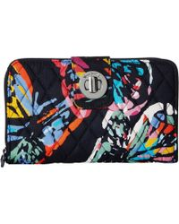 Vera Bradley - Rfid Turnlock Wallet (dream Tapestry) Wallet Handbags - Lyst