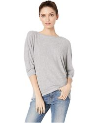 6f46e1b276d Michael Stars - Brielle Madison Brushed Jersey Super Soft Cocoon Top  (chalk) Women s Clothing