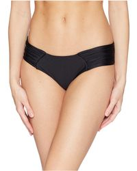 Luli Fama - Cosita Buena Scrunch Ruched Back Bikini Bottom (black) Women's Swimwear - Lyst