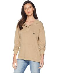 RVCA - Racked Fleece Sweatshirt (wood) Women's Sweatshirt - Lyst
