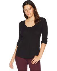 Lilla P - Back Seam Scoop (black Wash) Women's Clothing - Lyst