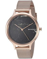 Skagen - Anita - Skw2721 (rose Gold) Watches - Lyst