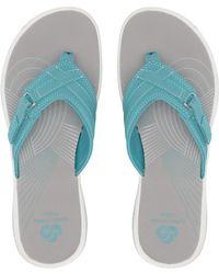 b30cf13471b Clarks - Breeze Sea (aqua Synthetic) Women s Sandals - Lyst