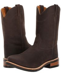 Old West Boots - Mb2061 (distress Brown) Men's Pull-on Boots - Lyst