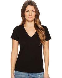 Vince - Essential V-neck Top (optic White) Women's T Shirt - Lyst