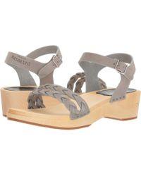 Swedish Hasbeens - Tanja Debutant (chocolate Nubuck) Women's Sandals - Lyst