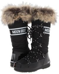 Tecnica - Moon Boot Monaco (black) Women's Cold Weather Boots - Lyst