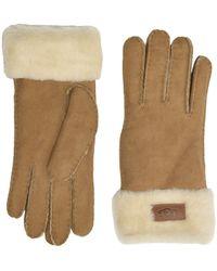 UGG - Turn Cuff Water Resistant Sheepskin Gloves - Lyst