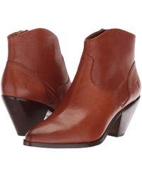 03e0930d1dd Frye - Lila Western Short (black Polished Soft Full Grain) Cowboy Boots -  Lyst