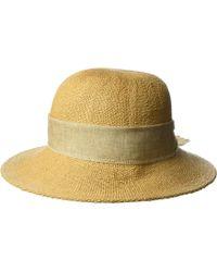 San Diego Hat Company - Pbm3020 - Concentric Brim Cloche With Linen Bow Trim (tobacco) Caps - Lyst
